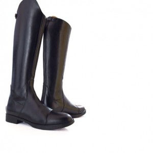 Buff-Leather-Boot-with-Zipper