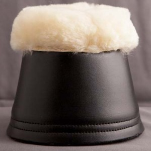 Zaldi Sheepskin rimmed over reach boots