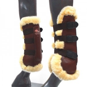 Grand-Prix Sheepskin Lined Open Front Boots